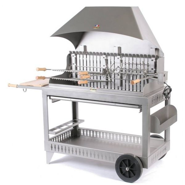 Barbecue le marquier etchalar inox hotte for Cheminee exterieur weber